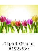 Royalty-Free (RF) Tulips Clipart Illustration #1090057