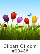 Royalty-Free (RF) Tulips Clipart Illustration #93436