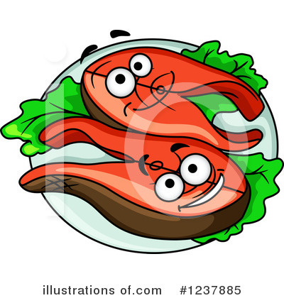 Tuna Clipart #1237885 by Vector Tradition SM