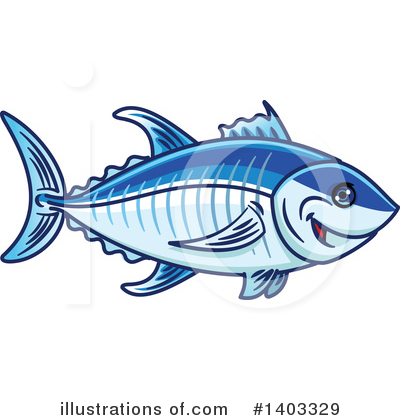 Tuna Clipart #1403329 by Vector Tradition SM