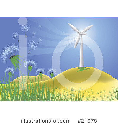 Wind Turbine Clipart #21975 by Paulo Resende