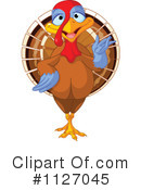 Royalty-Free (RF) Turkey Bird Clipart Illustration #1127045