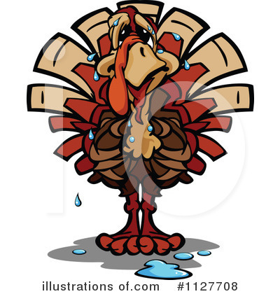 Turkey Clipart #1127708 by Chromaco