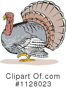 Royalty-Free (RF) Turkey Bird Clipart Illustration #1128023