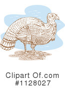 Royalty-Free (RF) Turkey Bird Clipart Illustration #1128027