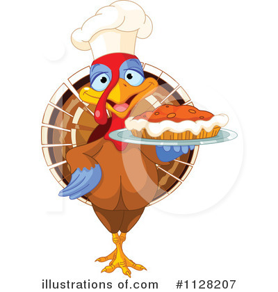 Thanksgiving Turkey Clipart #1128207 by Pushkin