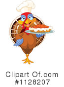 Royalty-Free (RF) Turkey Bird Clipart Illustration #1128207