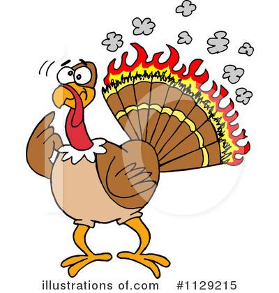 Thanksgiving Turkey Clipart #1129215 by LaffToon