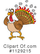 Royalty-Free (RF) Turkey Bird Clipart Illustration #1129215