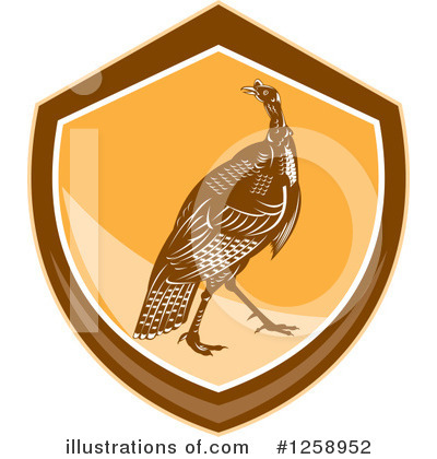 Turkey Bird Clipart #1258952 by patrimonio