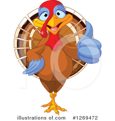 Thanksgiving Turkey Clipart #1269472 by Pushkin