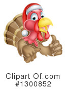 Royalty-Free (RF) Turkey Bird Clipart Illustration #1300852