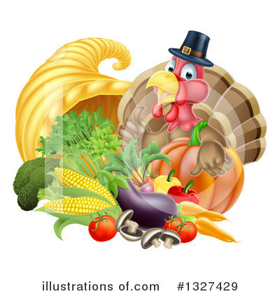Thanksgiving Clipart #1327429 by AtStockIllustration
