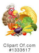 Royalty-Free (RF) Turkey Bird Clipart Illustration #1333617