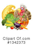 Royalty-Free (RF) Turkey Bird Clipart Illustration #1342373