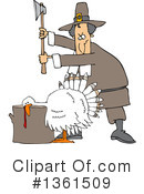 Royalty-Free (RF) Turkey Bird Clipart Illustration #1361509