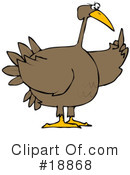 Royalty-Free (RF) Turkey Bird Clipart Illustration #18868