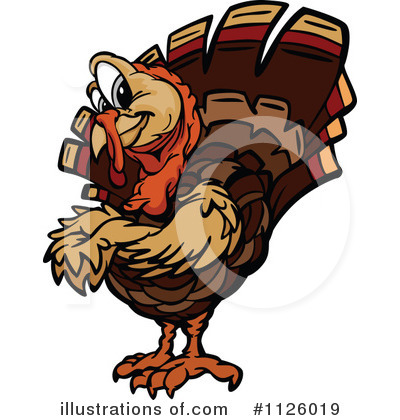 Turkey Clipart #1126019 by Chromaco