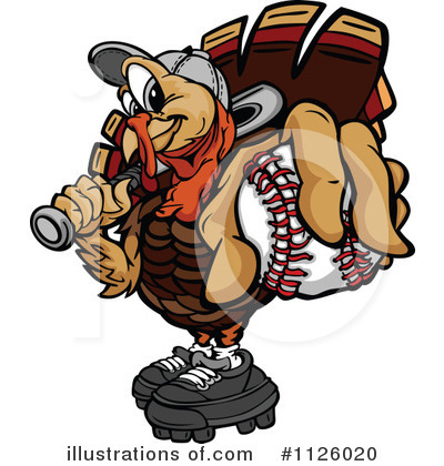 Turkey Clipart #1126020 by Chromaco