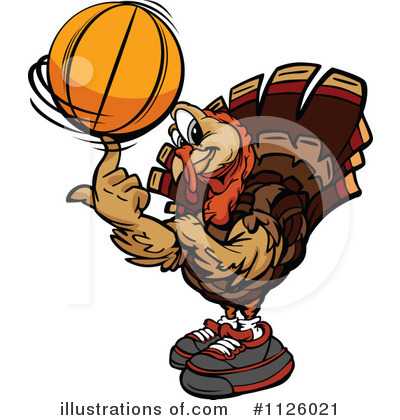 Turkey Clipart #1126021 by Chromaco