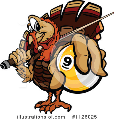 Turkey Clipart #1126025 by Chromaco