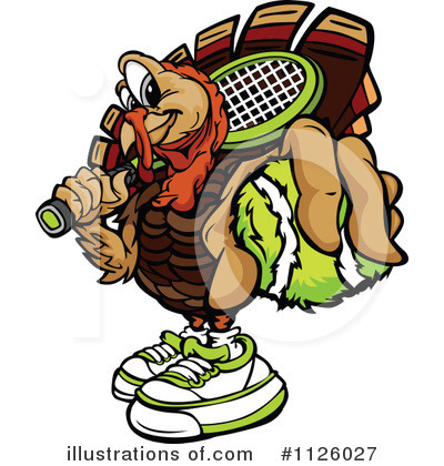 Turkey Clipart #1126027 by Chromaco
