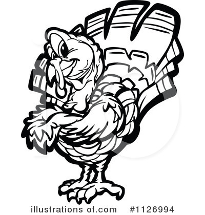 Turkey Clipart #1126994 by Chromaco