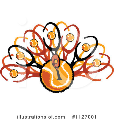 Turkey Clipart #1127001 by Chromaco