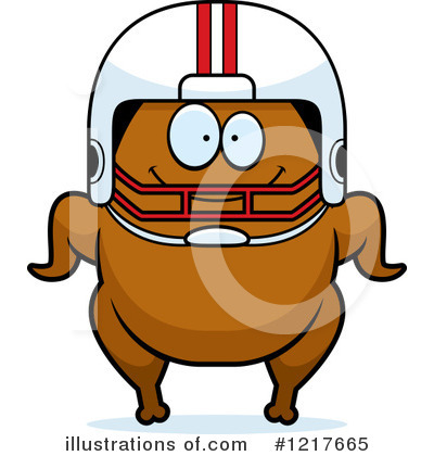 Football Clipart #1217665 by Cory Thoman