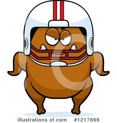 Football Clipart #1217666 by Cory Thoman