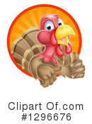 Royalty-Free (RF) Turkey Clipart Illustration #1296676