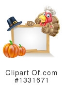 Royalty-Free (RF) Turkey Clipart Illustration #1331671