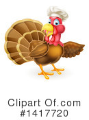 Royalty-Free (RF) Turkey Clipart Illustration #1417720