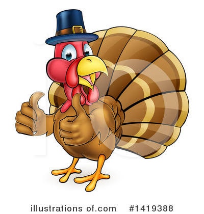 Thanksgiving Clipart #1419388 by AtStockIllustration