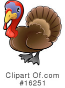 Royalty-Free (RF) Turkey Clipart Illustration #16251
