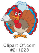 Royalty-Free (RF) Turkey Clipart Illustration #211228