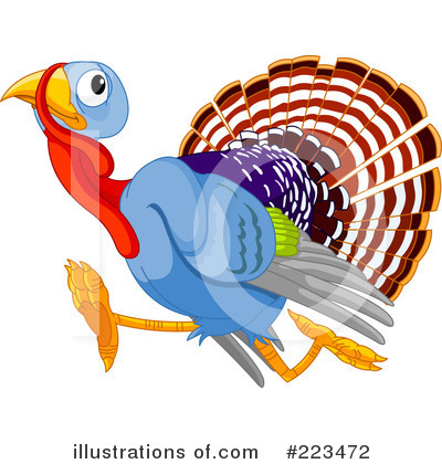 Running Turkey Clip Art http://www.illustrationsof.com/223472-royalty-free-turkey-clipart-illustration