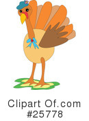 Royalty-Free (RF) Turkey Clipart Illustration #25778