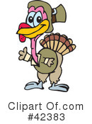 Royalty-Free (RF) Turkey Clipart Illustration #42383
