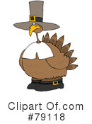 Royalty-Free (RF) Turkey Clipart Illustration #79118