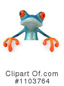 Royalty-Free (RF) Turquoise Frog Clipart Illustration #1103764