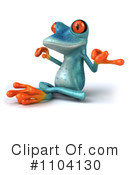 Turquoise Springer Frog Clipart #1104130 by Julos
