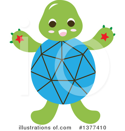 Turtle Clipart #1377410 by Cherie Reve