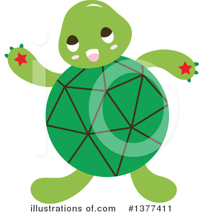 Turtle Clipart #1377411 by Cherie Reve