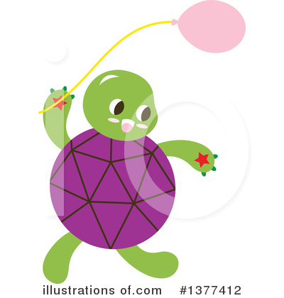 Turtle Clipart #1377412 by Cherie Reve