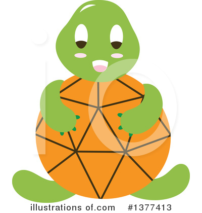 Turtle Clipart #1377413 by Cherie Reve