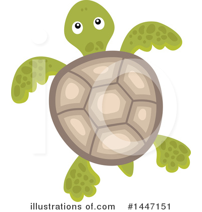 Sea Turtle Clipart #1447151 by visekart