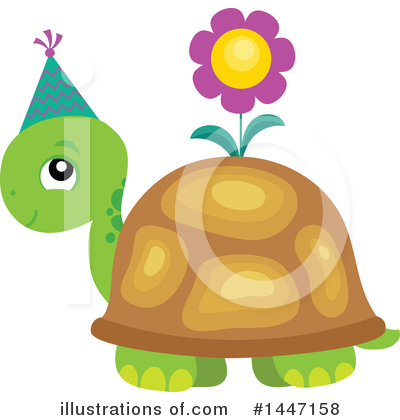 Royalty-Free (RF) Turtle Clipart Illustration by visekart - Stock Sample #1447158