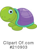 Royalty-Free (RF) Turtle Clipart Illustration #210903