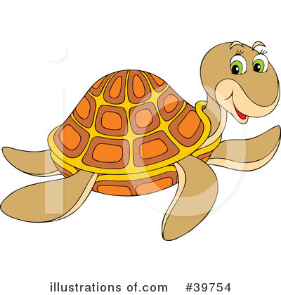 Sea Turtle Clipart #39754 by Alex Bannykh